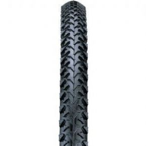 Nutrak 26 x 1.95 &quot MTB Raised Centre Tread Knobbly Tyre Black  Free Tube