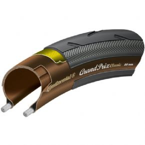 Continental Grand Prix Classic 700 x 25C black  Black Chili  folding with free tube