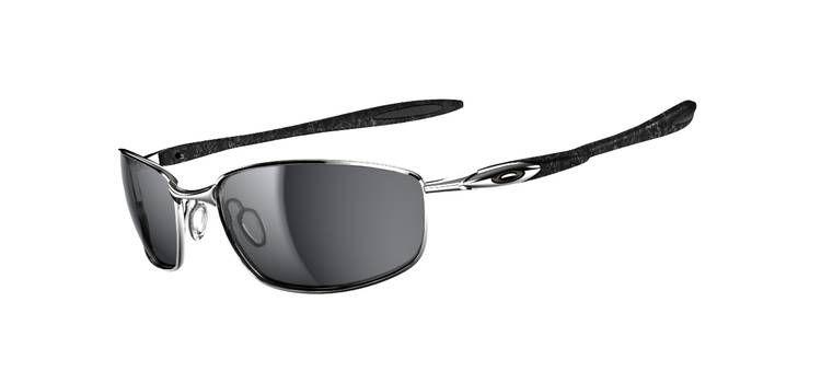 15cb115993 Oakley Blender Sunglasses Chrome Silver Ghost Text Black Iridium OO4059-02  ...