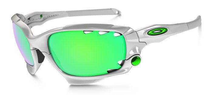 racing jacket oakley n47b  Oakley Racing Jacket Sunglasses Matte White/ Jade Iridum Vented & P42  Iridium Vented Oo9171-