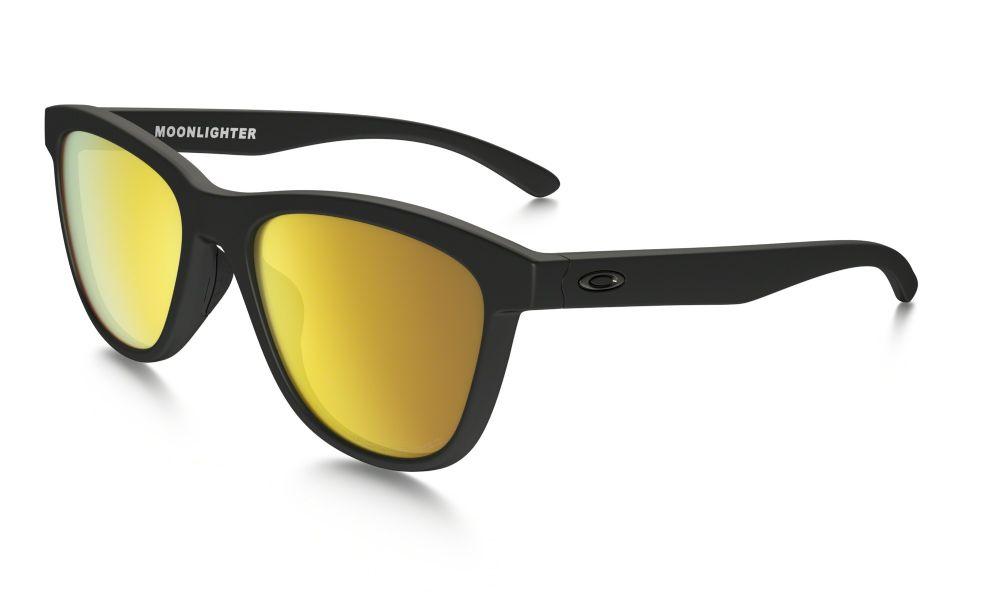 8b178f5feb4 Oakley Moonlighter Pop Polar Collection Sunglasses Matt Black  24k Iridium  Polarised Oo9320-10 ...